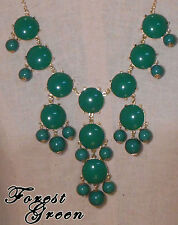 Bubble Statement Necklace FOREST GREEN receive 3-5 days FREE Shipping USA