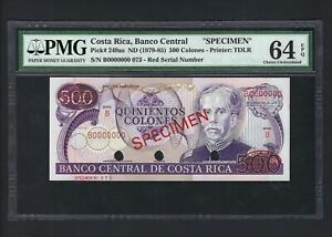 Costa Rica 500 Colones ND(1979) P249as Specimen TDLR N 73 Uncirculated