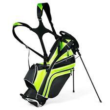 Golf Stand Cart Bag Club w/6 Way Divider Carry Organizer Pockets Storage4 Green