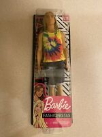 2019 BARBIE FASHIONISTA KEN # 138 LONG REAL HAIR TY DYED SHIRT HIPPIE THOR MINT