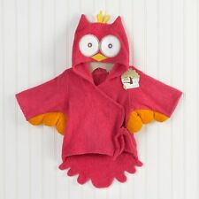 Red Owl Baby Girl Bathroom Wrap Bath Hooded Towel Robe bathrobe 0-12 Months