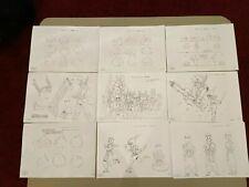 Dragon Quest Abel Yuusha Densetsu Settei Sheets Free Shipping