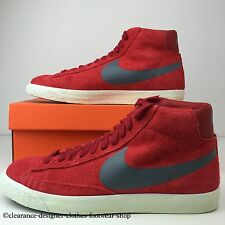 NIKE BLAZER MID PRM VINTAGE SUEDE TRAINERS RED NEW MENS SHOES UK 6 RRP £70