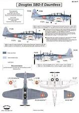 Berna Decals 1/144 DOUGLAS SBD-5 DAUNTLESS French Navy in Indochina