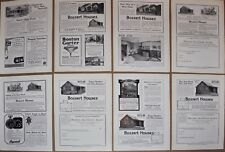 1915-19 Bossert Homes advertisements x8, Bossert Prebuilt houses ad lot