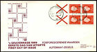 Netherlands 1969 Queen Juliana Booklet Pane FDC First Day Cover #C36158