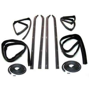 Sweep Belt & Glass Run Window Channel & Door Seal  80-93 Dodge D Series PAIR