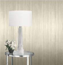 Kylie Minogue Esther Textured Pearl Ivory Heavyweight Stripe Wallpaper 709011
