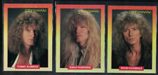 Whitesnake 1991 Trading Card 3-Lot RockCards, Heavy Metal Hair Band Coverdale