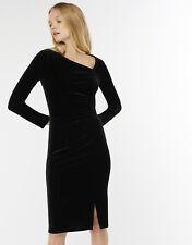 Ladies Monsoon Black Velvet Dress Size 22 Cocktail/Christmas Party/SALE