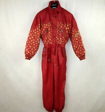 STORY VINTAGE RETRO WOMENS FLOWERED SKI SUIT ONE PIECE size EU-40 UK-14 USA-12