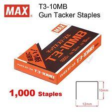 MAX T3-10MB (10mm) Gun Tacker Staples for MAX TG-A & TG-D Gun Tacker Stapler