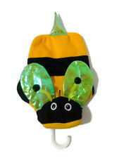 Bumble Bee Dog Hoodie Costume Bootique XS Black Yellow Wings Dress-up Halloween