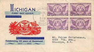775 3c Michigan, unknown cachet in orange and blue [072221.1046]