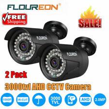 2X 1080P AHD CCTV Camera 2.0MP 3000TVL Waterproof Outdoor Security System Night