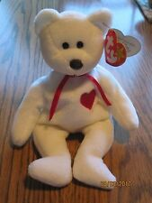 TY Beanie Babies Valentino the Bear RARE Brown Nose with PVC
