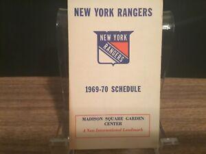 1969-70 New York Rangers pocket schedule