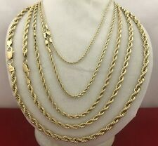 """Real 14k Gold Filled Diamond Cut Twisted French Solid Rope Chain Necklace L 24"""""""