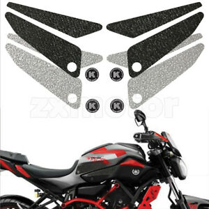 Tank Traction Side Pad Gas Knee Grip Sticker For Yahama MT-07/FZ-07 2015-2017