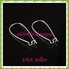 10pcs Silver Plated Kidney Wire Hoop Large 33x14mm Earrings Jewelry Findings 5pr