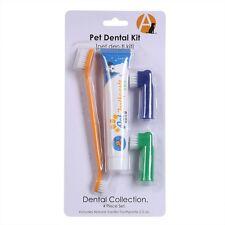 4 PCS/Set Pet Dog Cat  Puppy Kitten Flavour Toothpaste+Toothbrush+Back Up Brush