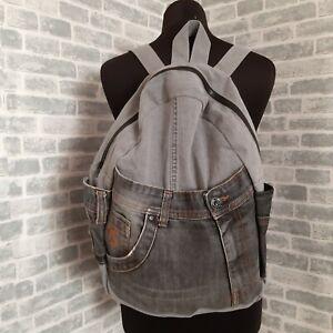 Handmade Casual denim backpack for college Urban backpack of jeans Travel bag