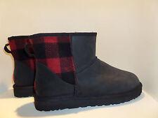 UGG Australia NEW SzUS13 EUR47 LEATHER & BUFFALO PLAID Boots Ret$170 Authentic