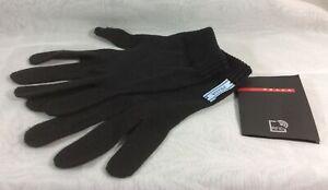 Authentic PRADA Milano Black 100% Stretch Cotton Gloves Size S or 7 - NWT