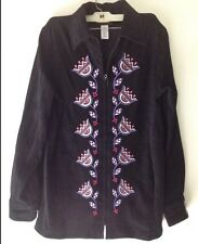Bob Mackie Blouse/Jacket Faux Suede Wearable Art BLCK SIZE SMALL MINT w/Tags