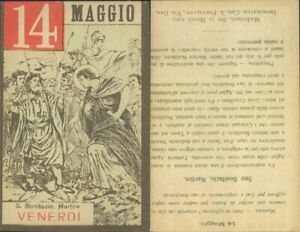 SAN BONIFACIO,MARTIRE -ASSOLUTA R@RIT@' SANTINO DI VENERDI 14 MAGGIO 1937