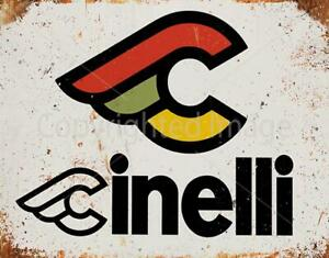 CINELLI WINGS LOGO RETRO VINTAGE CYCLING METAL TIN SIGN POSTER WALL PLAQUE