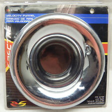 """SPECTRE 8788 3"""" 76mm INTAKE INLET UNIVERSAL ABS PLASTIC CHROME HEADLIGHT FUNNEL"""
