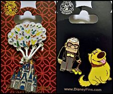 UP lot Castle with Balloons + Carl & Dug - Disney Park Pins - NEW