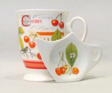 Teeset Becher mit Teebeutelablage & Tee-Ei in Geschenkbox Scottish Cherry