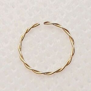 9 ct gold Twisted Nose Ring Hoop Septum Piercing