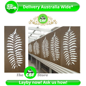 5 PACK - Fern Leaf - Australian Made Privacy Wooden Outdoor Screens - 600x1200mm