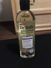 Dr. Teal's Bath And Body Oil Moisture Soothing Lavender Essential Oil Brand New