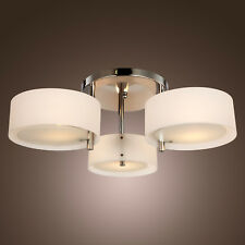 Flush Mount Chandelier Modern Ceiling Light 3 Light for Living Bedroom Chrome Us
