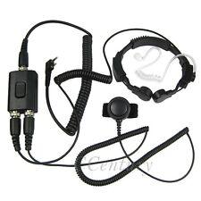 2Pin Heavy Duty Military Throat Mic Earpiece Headset for WOUXUN KG-UVD1P KG-UV9D