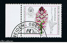 GERMANIA 1 FRANCOBOLLO BENEFICENZA ORCHIDEE ORCHIS 1984 timbrato