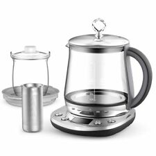 Electric Tea Kattle 1.5 Litter Glass Cordless Stainless Steel Water Heater Pot