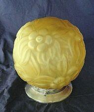 pate de verre art deco applique suspension globe plafonnier
