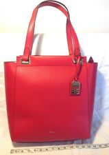 f2f045ce453f NWT Ralph Lauren Carlisle Tote MediumRed Pebbled Faux Leather. MSRP.  168.00