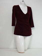 shirt womens small  Top Connected Apparel Red & Black Casual Long Sleeves