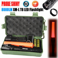 8000lm Shadowhawk Tactical Flashlight CREE XM-L T6 LED Focus Rechargeable Torch