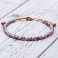 Fashion Bracelet Square Crystal Charm Handmade Chain Bangle Cuff Jewelry