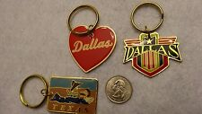 """""""Texas"""" Themed Key Chains  Pack of 3 Vintage   (80's)  Unused !!  Old Inventory"""