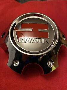 Screws Included Havok Gloss Black Wheel Rim Center Cap CBH06-C1P