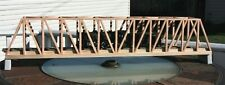 "S Gauge handmade oak thru truss bridge 36"" long for American Flyer etc.."
