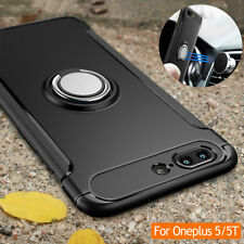 For Oneplus 5/5T Shockproof Ring PC Magnetic Kickstand 360° Rotating Cover Case